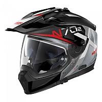 [해외]놀란 N70-2 X Bungee N-Com Convertible Helmet 9137806442 Scratched Chrome