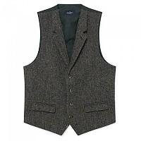 [해외]HACKETT Brown Tweed Herringbone Waistcoat Dark Brown