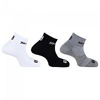 [해외]살로몬 SOCKS Quarter 3 Pack 4137828157 White / Black / Grey