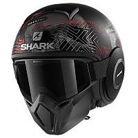 [해외]샤크 Street Drak Krull Convertible Helmet 9137761171 Matte Black / Silver / Red