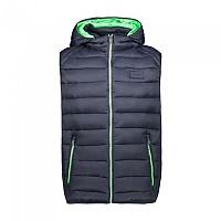 [해외]CMP Man Vest Zip Hood 4137702405 Black Blue