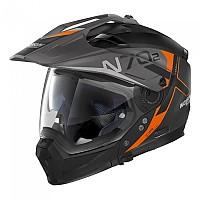 [해외]놀란 N70-2 X Bungee N-Com Convertible Helmet 9137806439 Flat Black / Orange