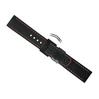 [해외]순토 Elementum Terra Leather Strap 1117651 Black / Red