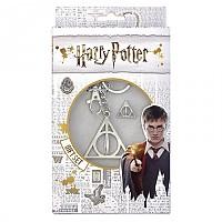 [해외]WARNER BROS Harry Potter Deathly Hallows Keyring+Pin Badge Set 137793872 Silver