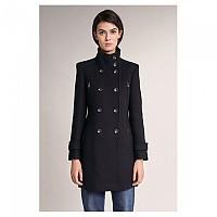 [해외]SALSA JEANS Long Duffle Coat With Detail Black