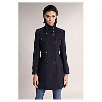 [해외]SALSA JEANS Long Duffle Coat With Detail Blue