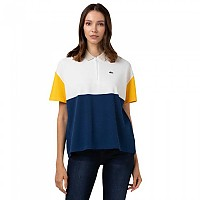 [해외]라코스테 Flowy Colourblock Cotton Pique Blend 137685103 Blue / White / Yellow / Sand