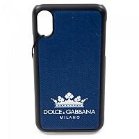 [해외]돌체앤가바나 733977 Men Logo iPhone Cover X/XS Navy Blue