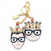 [해외]돌체앤가바나 733970 Key Ring Designers Kings Gold