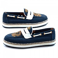 [해외]돌체앤가바나 733940 Men Shield Loafers Man137945121 Navy Blue