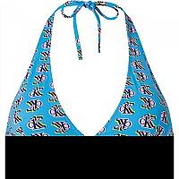 [해외]캘빈클라인 언더웨어 Halter Neck Triangle-Rp-Print Top Blue Logo Step Print