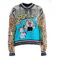 [해외]돌체앤가바나 734121 Women Sequins Sweatshirt 137945180 Light Blue