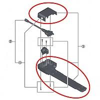 [해외]시마노 Cover+Screws BME60 Abus Steps Kit 1137149650 Black