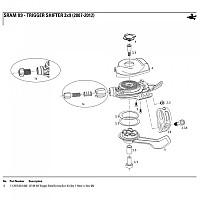 [해외]스램 Rear Derailleur X9 Trigger Bolt/Screw/SVC Kit 1137780484 Black
