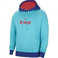 [해외]나이키 FC Barcelona Sportswear Club 20/21 3137913944 Oracle Aqua / Light Fusion Red