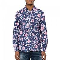 [해외]리플레이 M4049.000.72233.010 Shirt Blue / Rose Flowers
