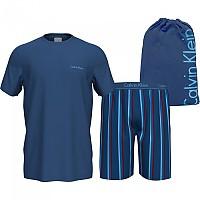 [해외]캘빈클라인 언더웨어 S/S Short Set 137938770 Anchor Blue Top / Sunbeam Stripe