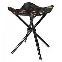 [해외]STEALTH GEAR Collapsible Stool 4 Legs 4137928822 Camouflage / Black