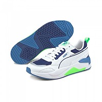 [해외]푸마 X-Ray 2 Square Man137919964 Puma White / Puma White / Elektro Green / Elektro Blue