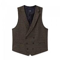 [해외]HACKETT Brown Wool Gunclub Waistcoat Brown