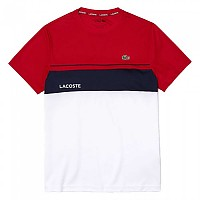 [해외]라코스테 Sport Crew Breathable Colourblock 12137944753 Rubis / Blanc-Marine