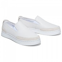 [해외]팀버랜드 Atlanta Green Leather Slip On Blanc De Blanc