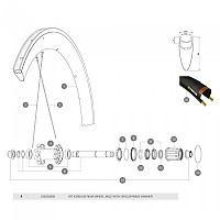 [해외]마빅 ID360 UB Rear Axle Kit 1137660339 Silver