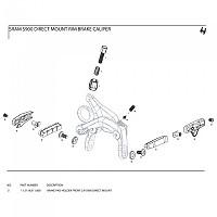 [해외]스램 S900 Direct Mount Holder Front Left/Right 1137670962 Black