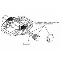 [해외]LOOK X-Track Plug Cover Kit 1137855287 Grey