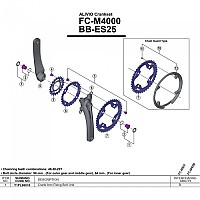 [해외]시마노 Alivio M4000 Octalink 1137974007 Silver