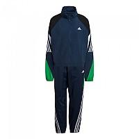 [해외]아디다스 Sportswear Game-Time Woven Crew Navy / Vivid Green / White
