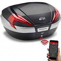 [해외]GIVI V56NN Maxia 4 Keyless 2.0 Top Case 9138000163 Black / Red / Aluminium