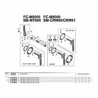[해외]시마노 Deore XT M8000 Left Crank 1137973246 Black