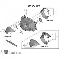 [해외]시마노 SM-DUE80 3 Units 1137974567 Black