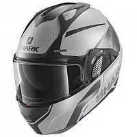 [해외]샤크 Evo GT Encke Modular Helmet 9137761219 Matte Silver / Anthracite / Black