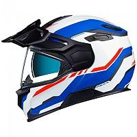 [해외]넥스 X.Vilijord Continental Modular Helmet 9137764747 White / Blue / Red