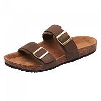 [해외]OXBOW Verak Double Strap Open Toe With Buckle Flip Flops Dark Brown