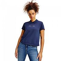[해외]타미 진 Regular Linear Short Sleeve Polo Shirt Twilight Navy