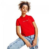 [해외]타미 진 Regular Linear Short Sleeve Polo Shirt Deep Crimson