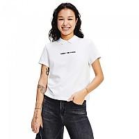 [해외]타미 진 Regular Linear Short Sleeve Polo Shirt White