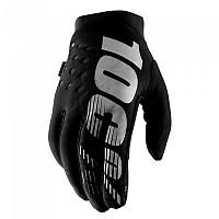 [해외]100% Brisker Long Gloves 1137622926 Black / Grey