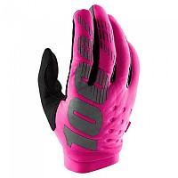 [해외]100% Brisker Long Gloves 1137622927 Neon Pink / Black