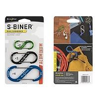 [해외]NITE IZE S Biner Dual Aluminium Key Ring 3 Units 4137955554