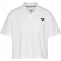 [해외]타미 진 Boxy Crop Heart Short Sleeve Polo Shirt White
