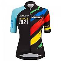 [해외]산티니 Tour Of Flanders 2021 Tono UV UCI Splashes Design Jersey 1138083682 Black / Light Blue
