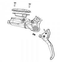 [해외]스램 G2 Ultimate A2 Carbon Disc Brake Lever Assembly 1137795706 Gloss Black