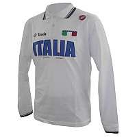 [해외]카스텔리 Italian Team 12/14 Long Sleeve Polo Shirt 1137130856 White