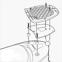 [해외]GIVI Monolock Top Case Rear Rack Fitting Kymco Downtown 125i/200i/300i 9138106734