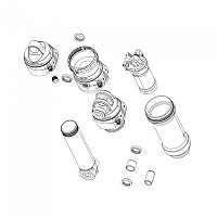 [해외]락샥 Rear Shock Mounting Hardware 1/2 1137949244 Black