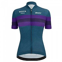 [해외]산티니 Nova Eroica Opera Short Sleeve Jersey 1138101869 Green / Blue